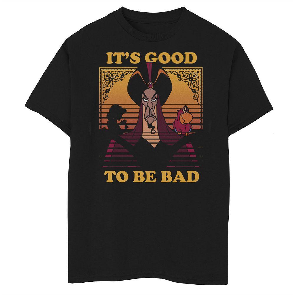 Disney's Aladdin Boys 8-20 Jafar Good To Be Bad Dusk Colors Graphic Tee