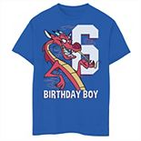 Disney's Mulan Boys 8-20 6th Birthday Boy Mushu Portrait Graphic Tee