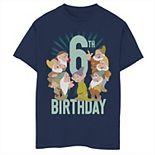 Disney's Snow White & The Seven Drawfs Boys 8-20 6th Birthday Portrait Graphic Tee