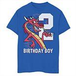Disney's Mulan Boys 8-20 2nd Birthday Boy Mushu Portrait Graphic Tee