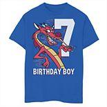 Disney's Mulan Boys 8-20 7th Birthday Boy Mushu Portrait Graphic Tee