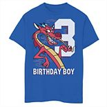 Disney's Mulan Boys 8-20 3rd Birthday Boy Mushu Portrait Graphic Tee