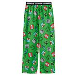 Boys 4-16 Minecraft Diamond Fight Sleep Pants