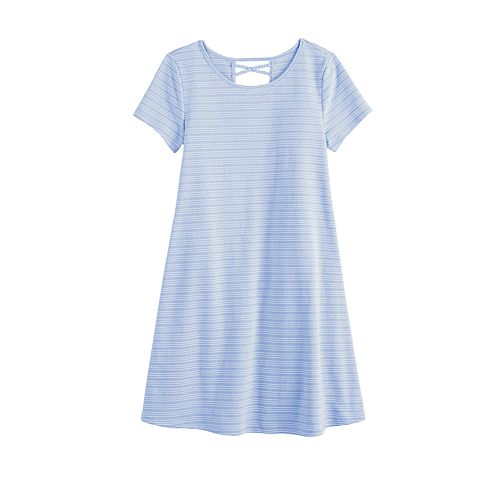 Girls 6-20 & Plus Size SO® Cross Back T-Shirt Dress