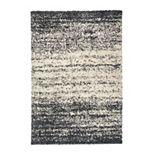 World Rug Gallery Bondi Distressed Abstract Shag Rug