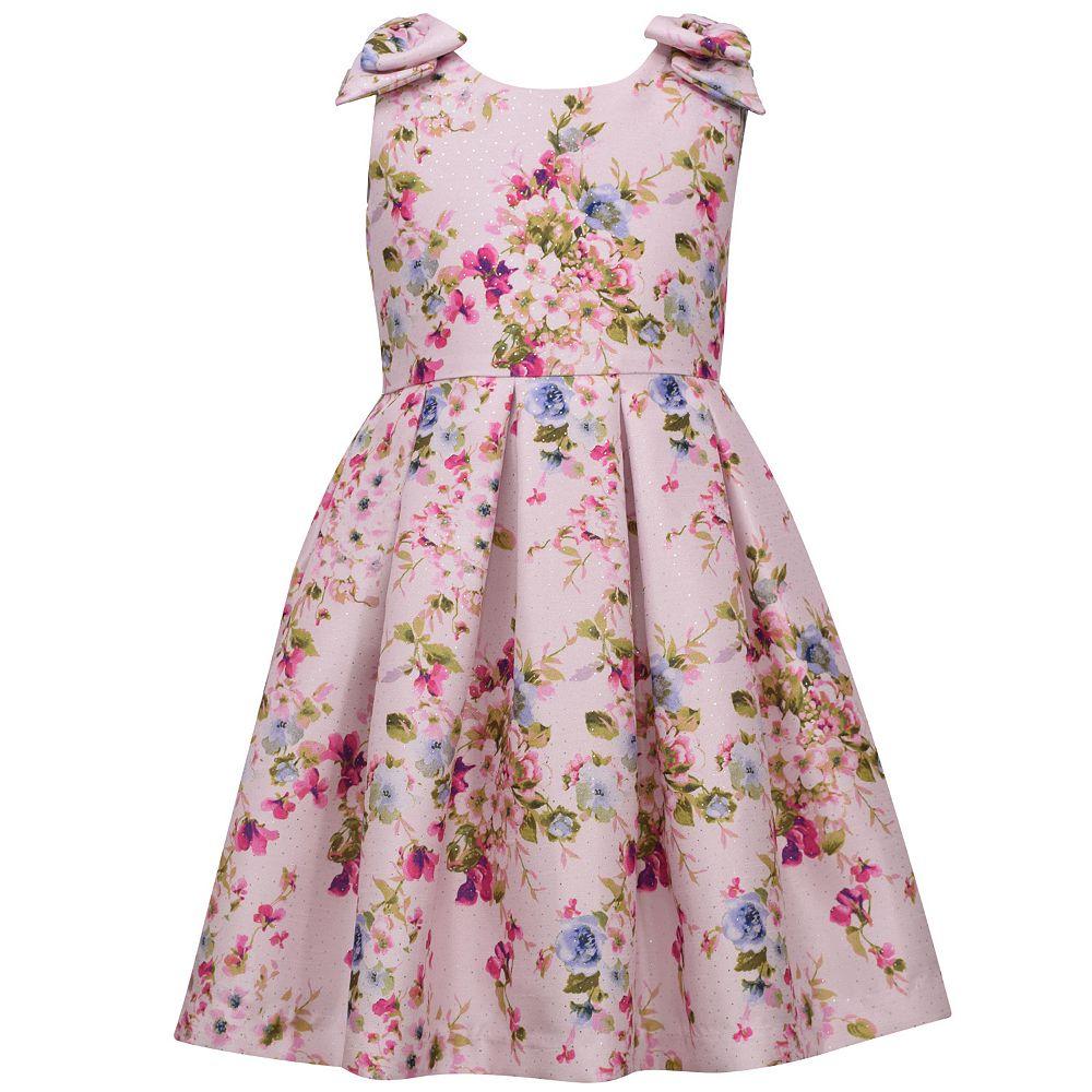 Girls 7-16 Bonnie Jean Pleated Floral Dress