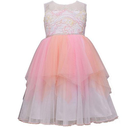 Girls 7-16 Bonnie Jean Lace Tiered Mesh Ballerina Dress