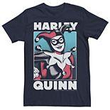 Men's Batman Harley Quinn Retro Poster Tee