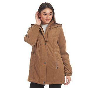 Women's Fleet Street Hooded Faux-Suede Jacket