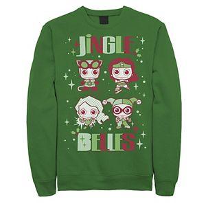 Men's DC Comics Justice League Jingle Belles Christmas Sweatshirt