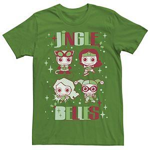 Men's DC Comics Justice League Jingle Belles Christmas Tee