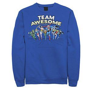 Men's Justice League Team Awesome Group Shot Sweatshirt