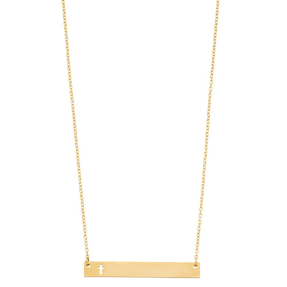 Starfish Project Cross Cutout Bar Necklace