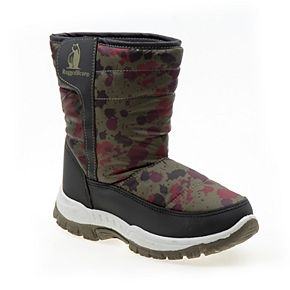 Rugged Bear Splatter Toddler Boys' Winter Boots