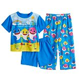 Toddler Boy Baby 3 Piece Shark Pajama Set