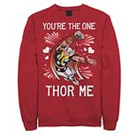 Men's Marvel Thor You're The One Thor Me Valentine Graphic Fleece Pullover