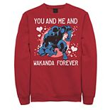 Men's Marvel Black Panther You And Me Valentine Graphic Fleece Pullover