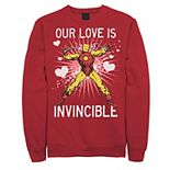 Men's Marvel Iron Man Our Love Is Invincible Graphic Fleece Pullover