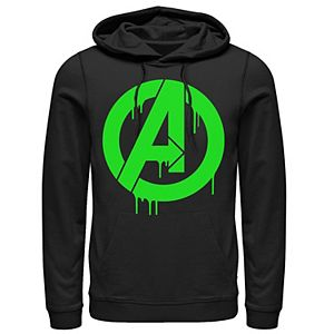 Men's Marvel The Avengers Green Dripping Ooze A Logo Hoodie