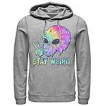 Men's Tye Dye Alien Peace Stay Weird Hoodie