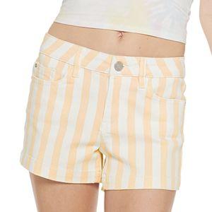Juniors' Indigo Rein High Rise Shortie Shorts