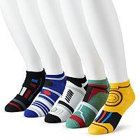 5-Pack Star Wars Men's Low Cut Socks