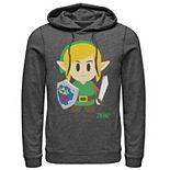 Men's Nintendo Legend of Zelda Links Awakening Link Cartoon Portrait Hoodie
