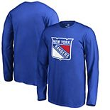 Men's Fanatics Branded Royal New York Rangers Primary Logo Long Sleeve T-Shirt