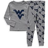 Toddler Heathered Gray West Virginia Mountaineers Long Sleeve T-Shirt & Pant Sleep Set