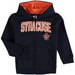 Toddler Navy Syracuse Orange Applique Arch & Logo Full-Zip Hoodie
