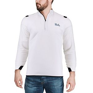 Men's Under Armour White UCLA Bruins Daytona Quarter-Zip Pullover Jacket
