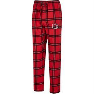 Men's Concepts Sport Red/Black Ottawa Senators Homestretch Flannel Pants