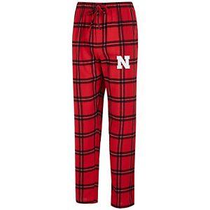 Men's Concepts Sport Scarlet/Black Nebraska Cornhuskers Big & Tall Homestretch Flannel Pants
