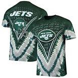 Men's Majestic Green New York Jets V Tie-Dye T-Shirt