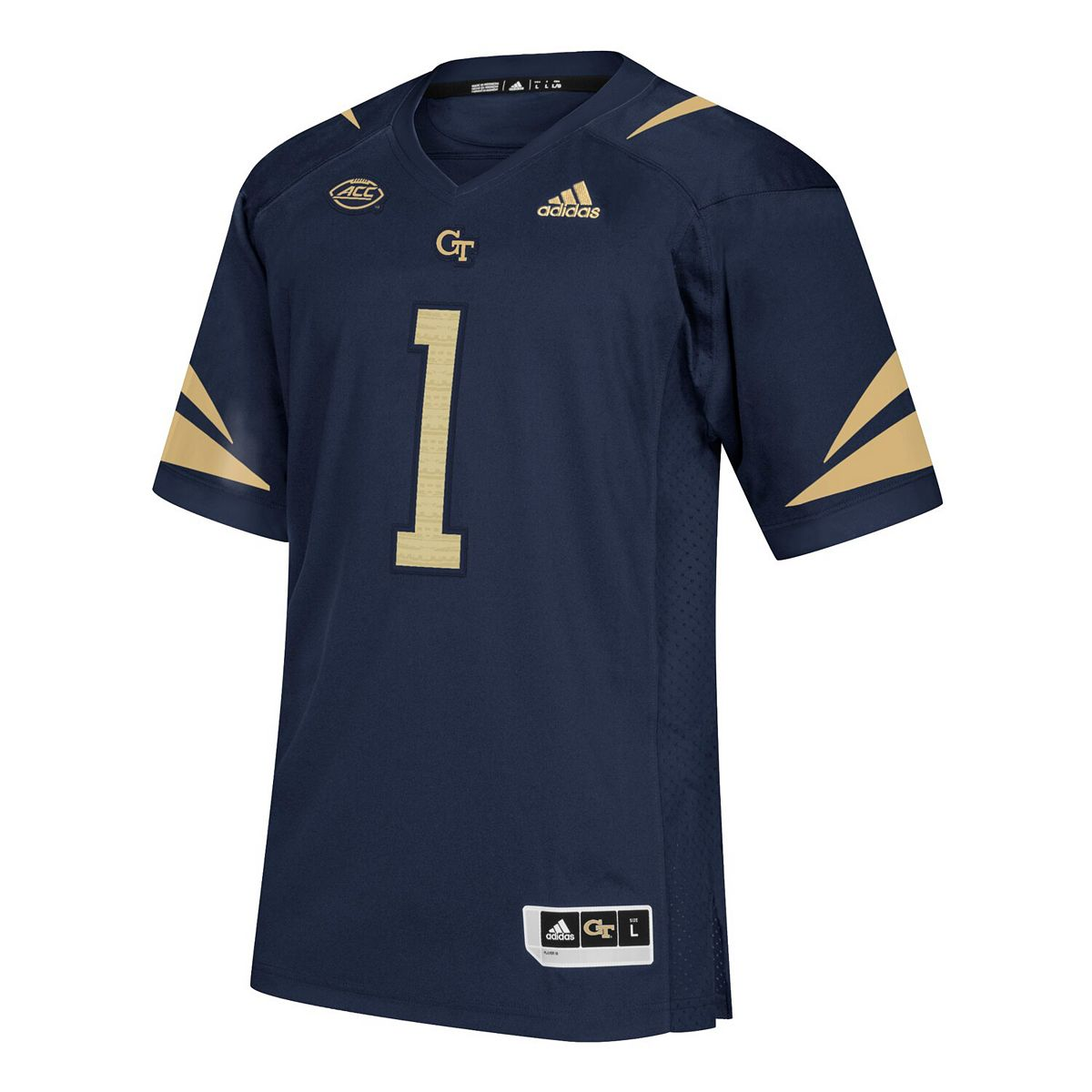 Men's adidas #1 Navy Georgia Tech Yellow Jackets Premier Football Jersey tKQxO