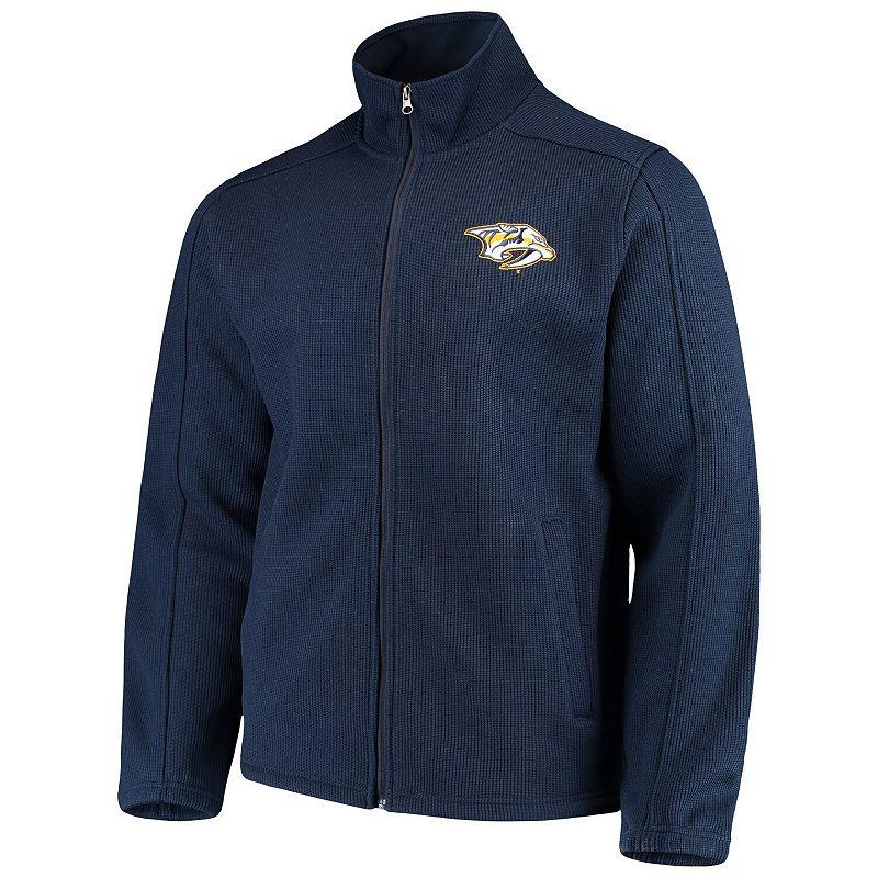 Men's G-III Sports by Carl Banks Navy Nashville Predators Audible Full-Zip Jacket, Size: 2XL, Blue