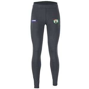 Women's Under Armour Heathered Charcoal Boston Celtics Combine Authentic Favorites Performance Leggings