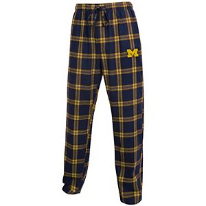 Men's Concepts Sport Navy/Maize Michigan Wolverines Big & Tall Homestretch Flannel Pants