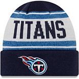 Youth New Era Navy/White Tennessee Titans Stated Cuffed Knit Hat