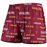 Men's Concepts Sport Wine Cleveland Cavaliers Mid-Field Knit Boxer Shorts