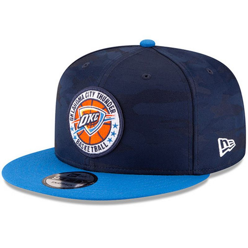 Men's New Era Navy/Blue Oklahoma City Thunder 2018 Tip-Off Series Two-Tone 9FIFTY Adjustable Hat