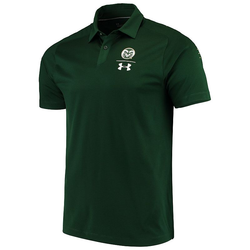 Men's Under Armour Green Colorado State Rams Team Coaches Sideline Performance Polo, Size: XL