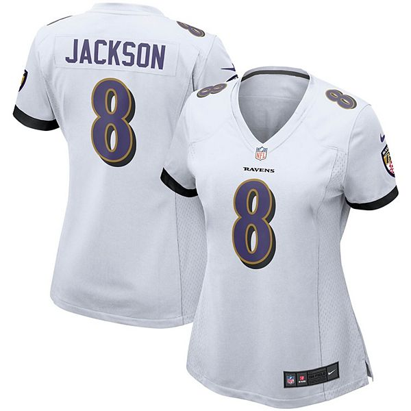 Women's Nike Lamar Jackson White Baltimore Ravens Game Jersey