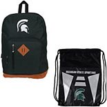 The Northwest Company Michigan State Spartans Double Down Backpack Set