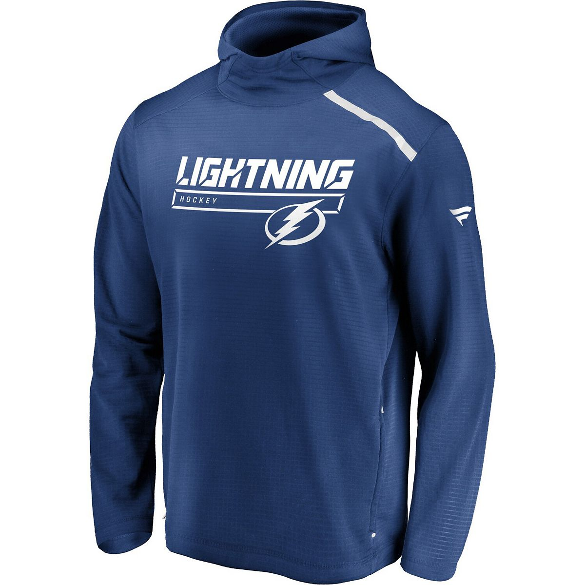 Men's Fanatics Branded Blue Tampa Bay Lightning Authentic Pro Rinkside Transitional Pullover Hoodie KyzCx