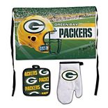 WinCraft Green Bay Packers 3-Piece Barbecue Set