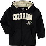 Toddler Black Colorado Buffaloes Applique Arch & Logo Full-Zip Hoodie