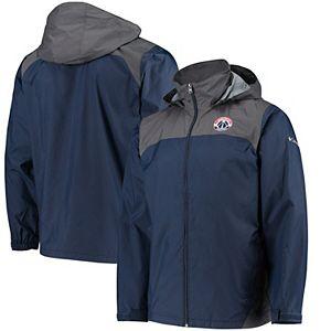 Men's Columbia Navy Washington Wizards Glennaker Lake Full-Zip Jacket