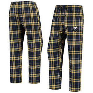 Men's Concepts Sport Navy/Gold Buffalo Sabres Hillstone Flannel Pants