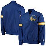 Men's Starter Golden State Warriors Royal The Jet II Crinkle Half-Zip Pullover Jacket